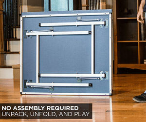 no assembly required, just unfold and play